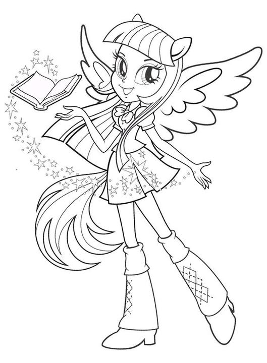 Alicorn Coloring Page