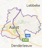 Kaart luchthavenvervoer in Aalst