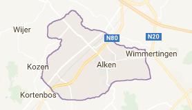 Kaart luchthavenvervoer in Alken