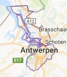 Kaart luchthavenvervoer in Antwerpen