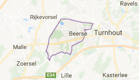 Kaart luchthavenvervoer in Beerse