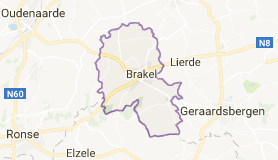 Kaart luchthavenvervoer in Brakel