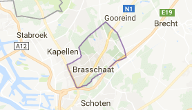 Kaart luchthavenvervoer in Brasschaat
