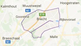 Kaart luchthavenvervoer in Brecht