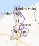 Kaart luchthavenvervoer in Brugge