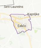 Kaart luchthavenvervoer in Eeklo