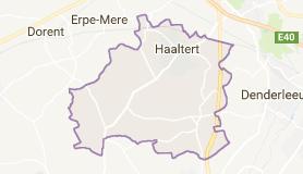 Kaart luchthavenvervoer in Haaltert