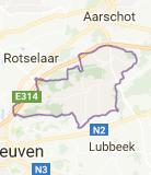 Kaart luchthavenvervoer in Holsbeek