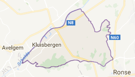Kaart luchthavenvervoer in Kluisbergen