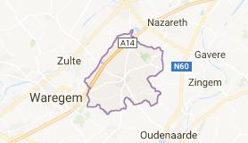 Kaart luchthavenvervoer in Kruishoutem