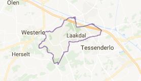 Kaart luchthavenvervoer in Laakdal