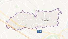 Kaart luchthavenvervoer in Lede