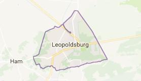 Kaart luchthavenvervoer in Leopoldsburg