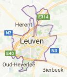 Kaart luchthavenvervoer in Leuven