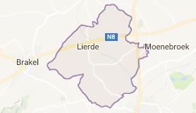 Kaart luchthavenvervoer in Lierde
