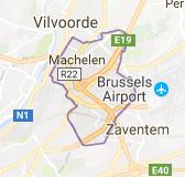 Kaart luchthavenvervoer in Machelen