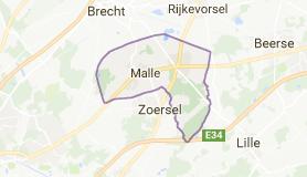 Kaart luchthavenvervoer in Malle