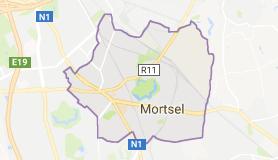 Kaart luchthavenvervoer in Mortsel