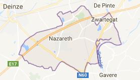 Kaart luchthavenvervoer in Nazareth