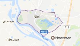 Kaart luchthavenvervoer in Niel