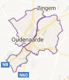 Kaart luchthavenvervoer in Oudenaarde