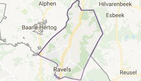 Kaart luchthavenvervoer in Ravels