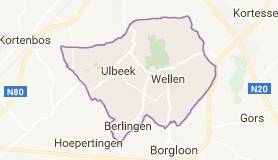 Kaart luchthavenvervoer in Wellen