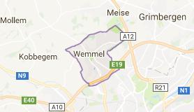 Kaart luchthavenvervoer in Wemmel