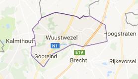 Kaart luchthavenvervoer in Wuustwezel