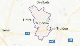 Kaart luchthavenvervoer in Zoutleeuw