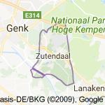 Kaart luchthavenvervoer in Zutendaal