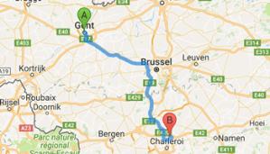 luchthavenvervoer van Gent naar Charleroi Airport