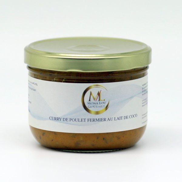 CURRY POULET AU LAIT COCO 300 GRS mona lou gourmet