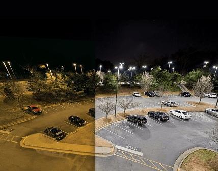 parking lot led lights outdoor pole
