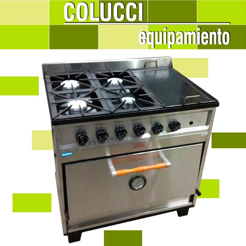 Cocina Industrial Tecnocalor 4 H  Plancha Horno Pizzero