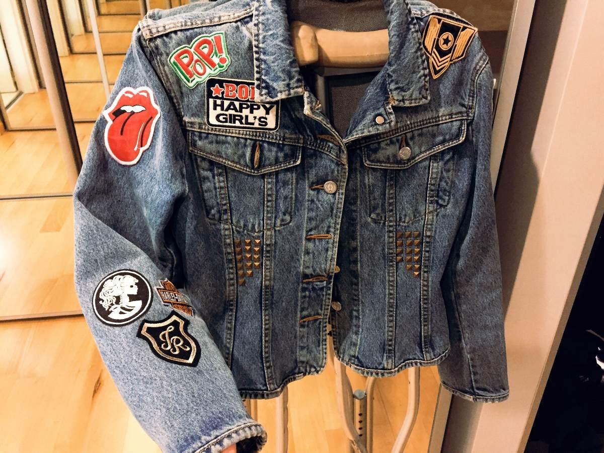 Diy customiza tu campera de jeans silenblogger - Decorar pantalones vaqueros ...