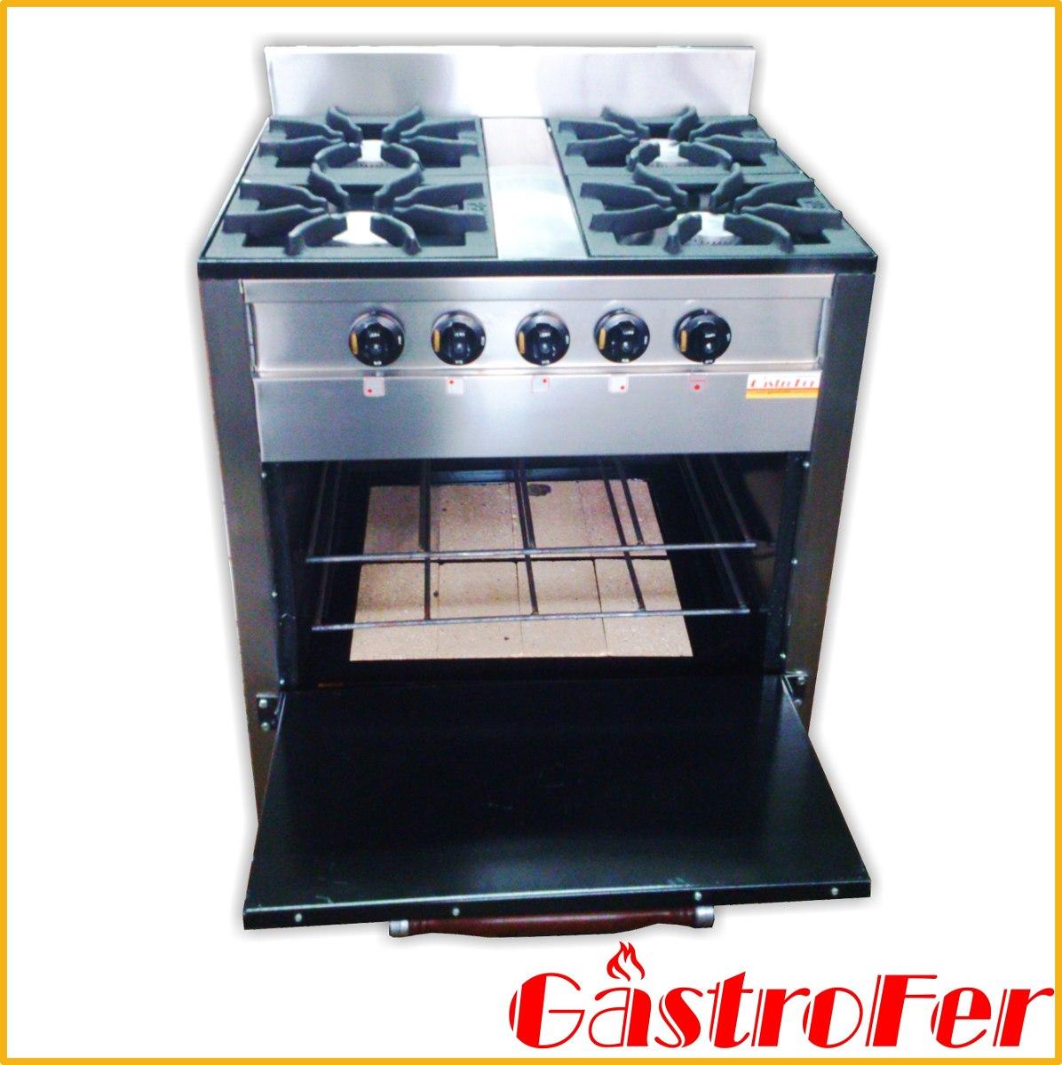Cocina Industrial Familiar Pevi 4 Hornallas Acero Inox 70