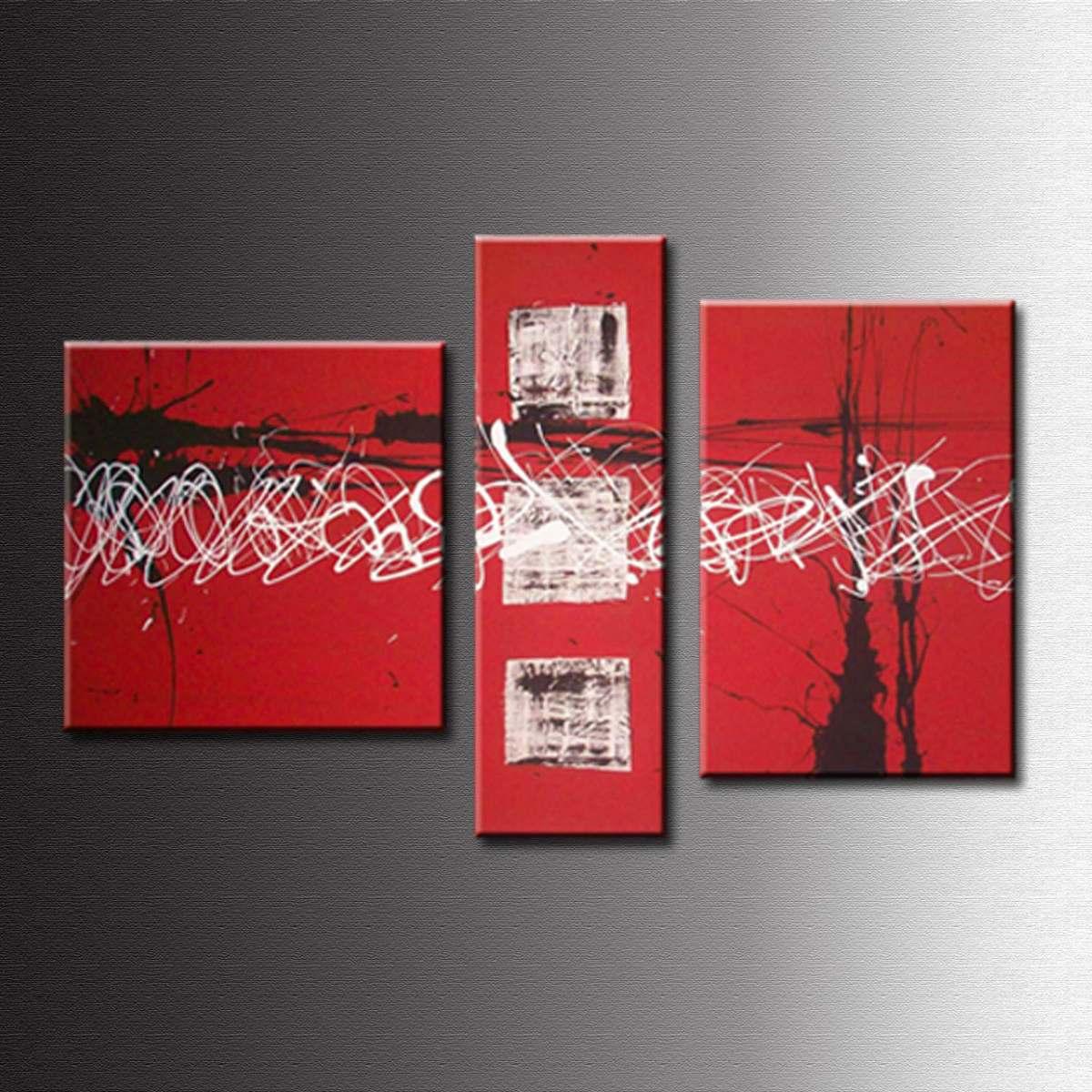 Cuadros Abstractos Tripticos Modernos Decoracion Pinturas Cuadros