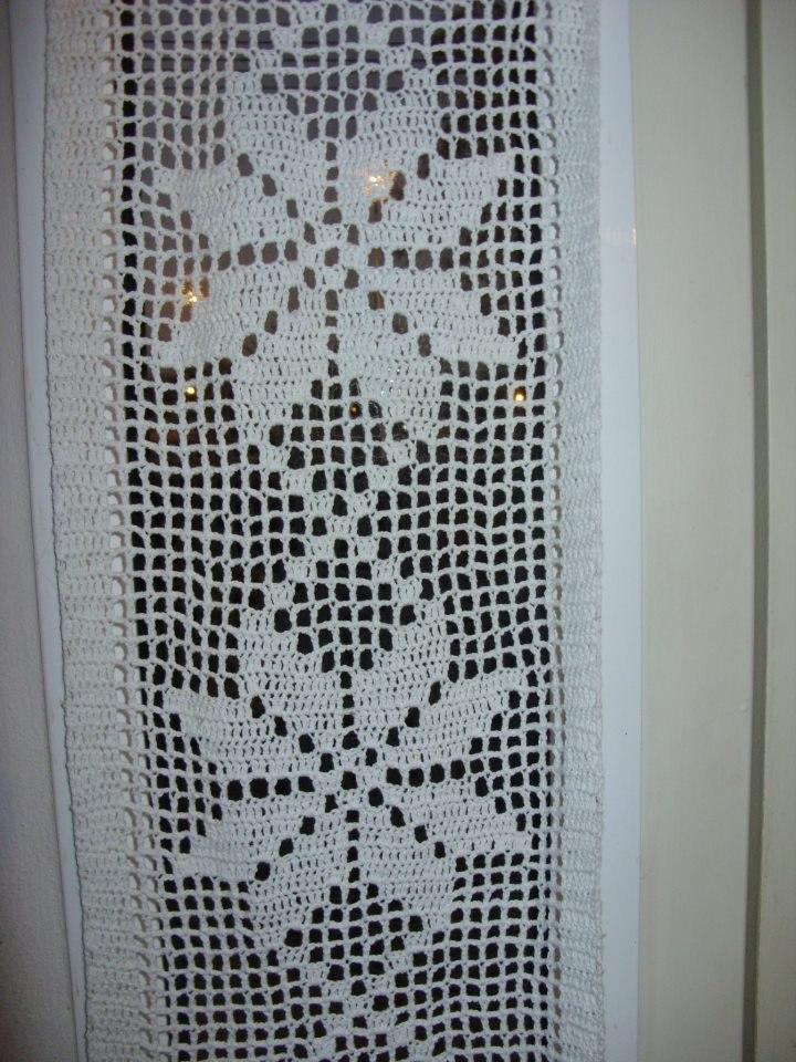 Cortina O Visillo Tejida Al Crochet   29000 en MercadoLibre