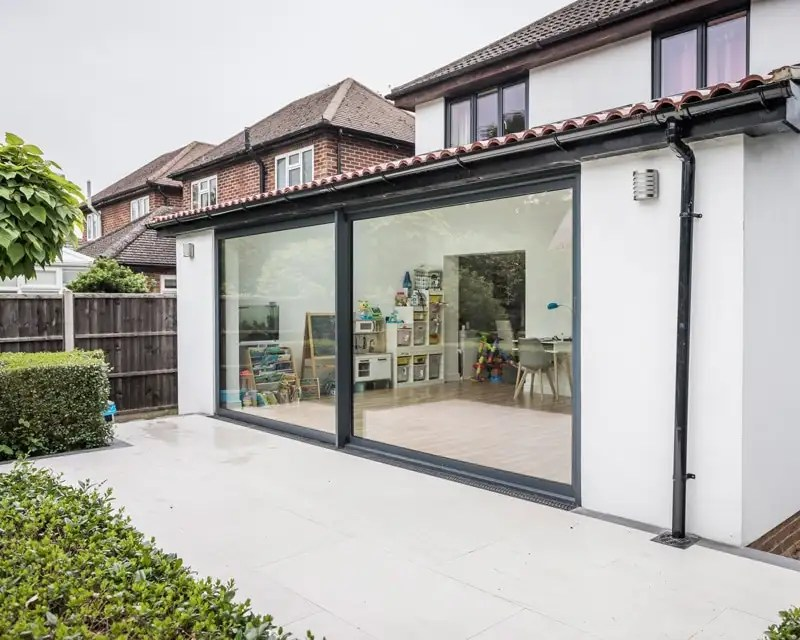 exceed grey 4 5m aluminium sliding doors aspire doors