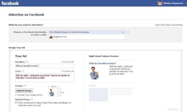 Ovako bi mogla da izgleda dobra Facebook reklama.