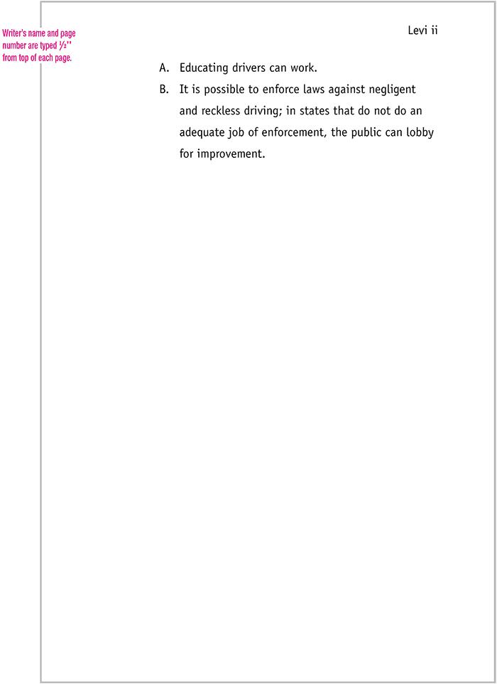 sample of apa title page