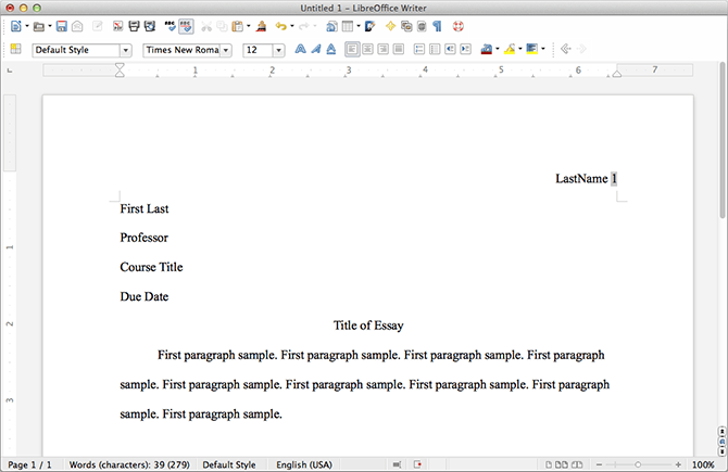 how to set up my paper in apa format
