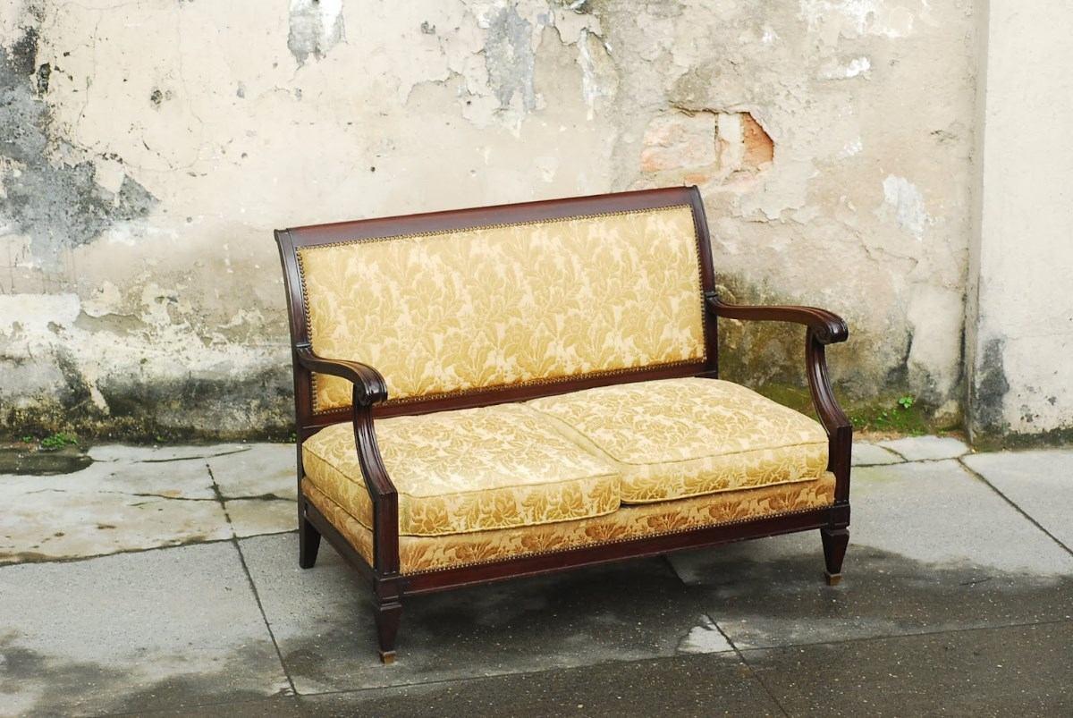 sofa usado no mercado livre how to dispose singapore sofá luis felipe canape namoradeira r 1 190 48 em