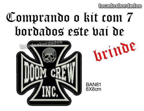 Super Kit C/ 7 Pçs Bordados Banda Black Label Society