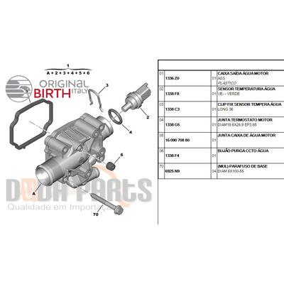 Valvula Termostatica C/ Carcaça 206/207/c3/307 1.6 16v