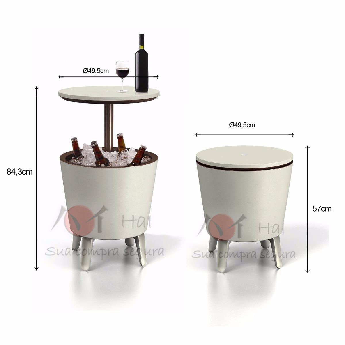 Cooler Bar Keter Porta Bebidas Caixa Trmica Mesa De Apoio  R 49800 em Mercado Livre