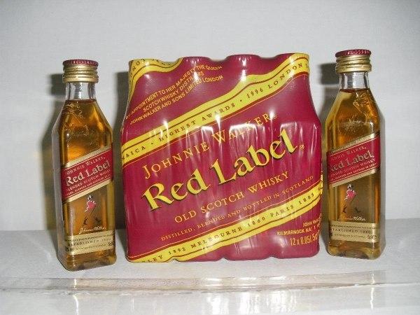 Miniatura Whisky Johnnie Walker Red Label - Mini Garrafa