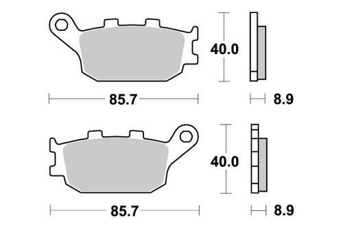 Pastilha De Freio Traseiro Yamaha Xj6 600 Diversion Ano