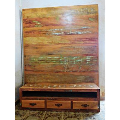sofa usado no mercado livre loveseat and chaise set rack com painel em madeira de demolição (peroba rosa) - r ...